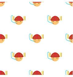 Beer helmet icon in cartoon style isolated on vector