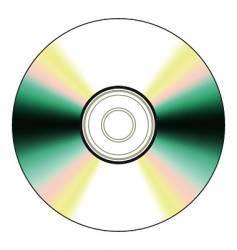 black cd vector image