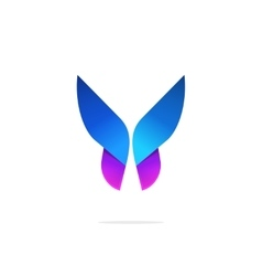 Butterfly colorful logo template with gradient on vector image vector image