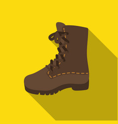 Combat boot icon in flat style isolated on white vector