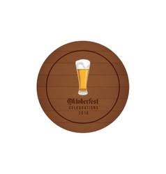 Cute Oktoberfest label vector image