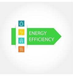 Energy efficiency logo vector image vector image