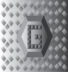 G text aluminium wallpaper vector