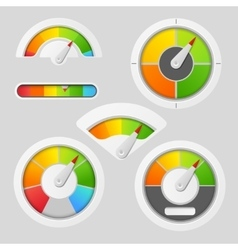 Gauge chart meter elements vector