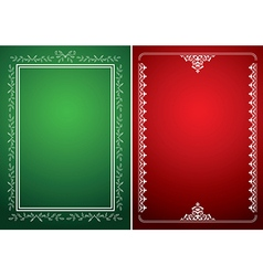 green and red backgrounds with white frames vector image vector image