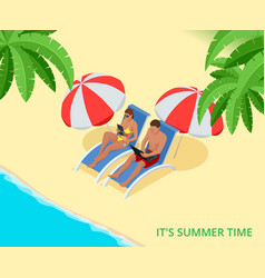 It s summer time summer party concept fun party vector