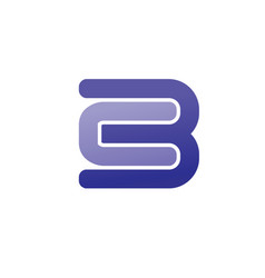 lette cb logo vector image vector image