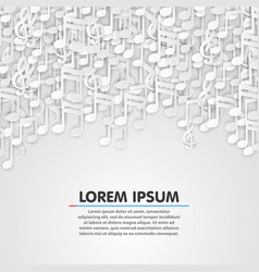 Music note white background design vector