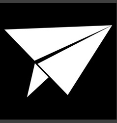 Paper airplane it is the white color icon vector