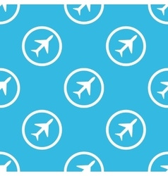 Plane sign pattern vector image vector image