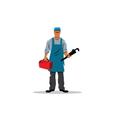 Plumber vector image