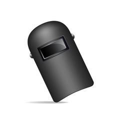 Protective welding mask in black design vector