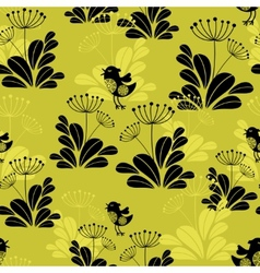 Seamless pattern with small bird vector