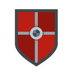 Shield for fight icon flat style vector