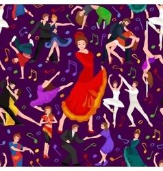 Spanish girl flamenco dancer in red dress spanish vector