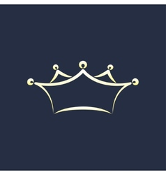 symbol of crown vector image