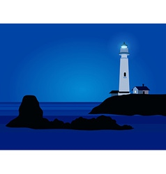 Nature landscape with lighthouse vector