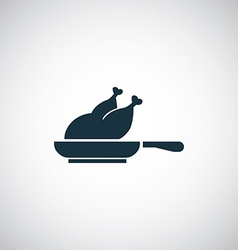 Chicken grill icon vector