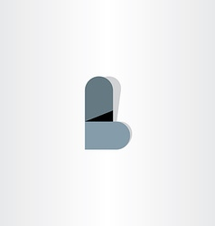Letter l logo abstract design element vector