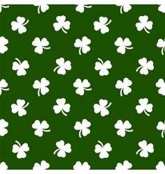 Clover leaves background St Patricks day vector image