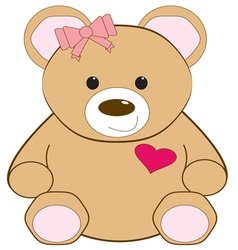 Valentine teddy vector