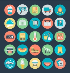 Travel Colored Icons 4 vector image