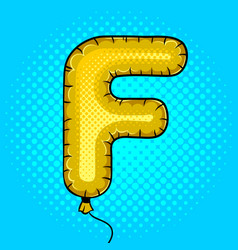 air balloon in shape of letter f pop art vector image