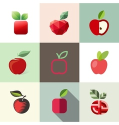 Apple - logo templates set - elements for design vector image vector image