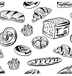 bakery pattern vector image