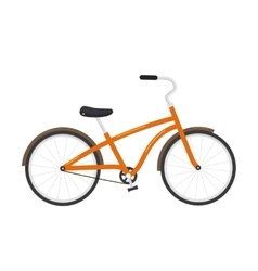 Bicycle isolated on white background vector image vector image