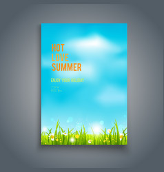 Blue summer sky vector