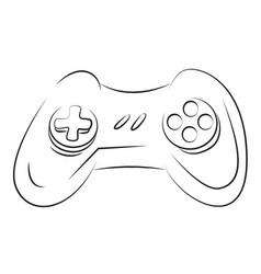 cartoon image of game icon gamepad symbol vector image