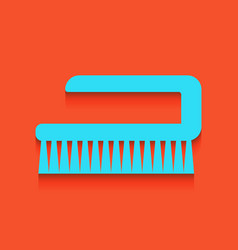 Cleaning brush hygiene tool sign whitish vector