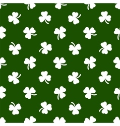 Clover leaves background St Patricks day vector image