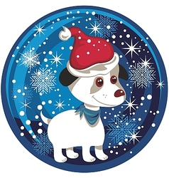 Dog Snow Globe vector image vector image