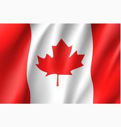 Flag canada realistic icon vector
