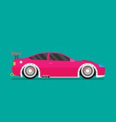flat racing car eps 10 vector image vector image