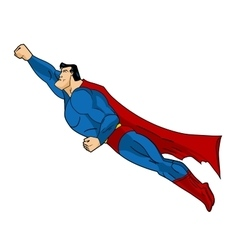 Flying superhero icon action vector