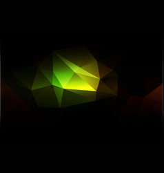 Green brown yellow black low poly background vector