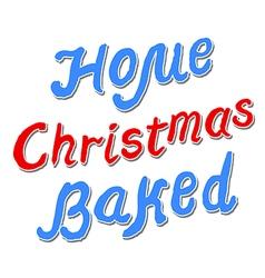 Home christmas baked vector