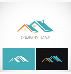 house roof realty company logo vector image vector image