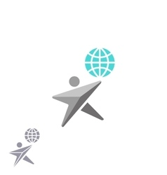 Human shape star logo globe creative ecology vector image vector image