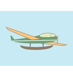 hydroplane seaplane transport aviation vector image vector image