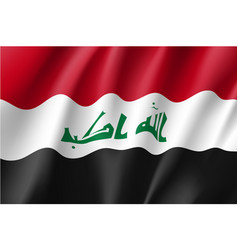 iraq national flag vector image vector image