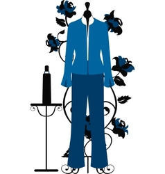 Mannequin for tailors with business costume vector image vector image
