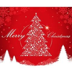 Merry christmas tree shape vector