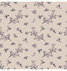 Seamless pattern vintage floral vector