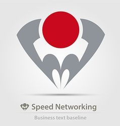 Speed networking business icon vector