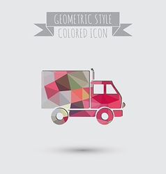Truck Logistic icon symbol icon laden truck vector image