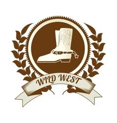 Wild west culture vector image vector image